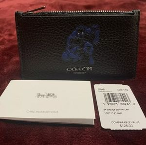 Coach x Marvel Black Panther Wallet Card Zipper